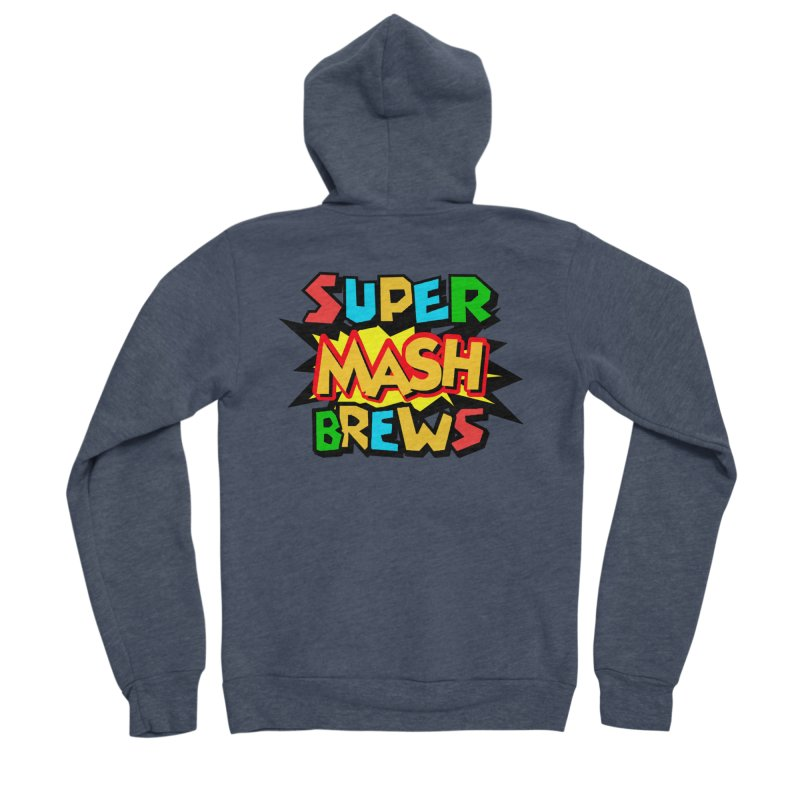 Super Mash Brews Women's Sponge Fleece Zip-Up Hoody by DrinkIN GeekOUT's Artist Shop