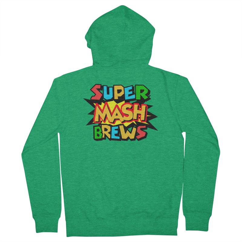 Super Mash Brews Women's French Terry Zip-Up Hoody by DrinkIN GeekOUT's Artist Shop