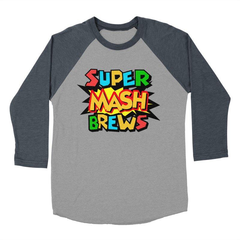 Super Mash Brews Men's Baseball Triblend Longsleeve T-Shirt by DrinkIN GeekOUT's Artist Shop