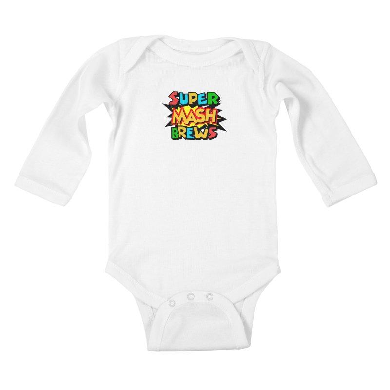 Super Mash Brews Kids Baby Longsleeve Bodysuit by DrinkIN GeekOUT's Artist Shop