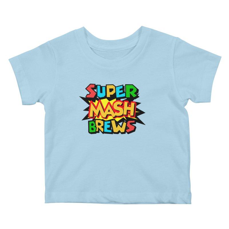 Super Mash Brews Kids Baby T-Shirt by DrinkIN GeekOUT's Artist Shop
