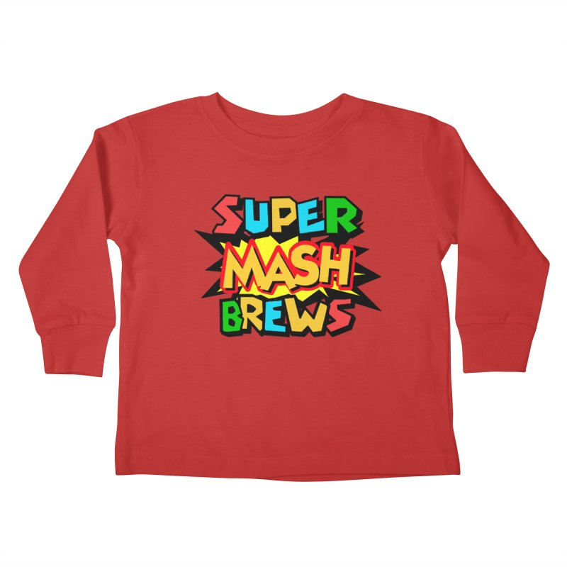 Super Mash Brews Kids Toddler Longsleeve T-Shirt by DrinkIN GeekOUT's Artist Shop