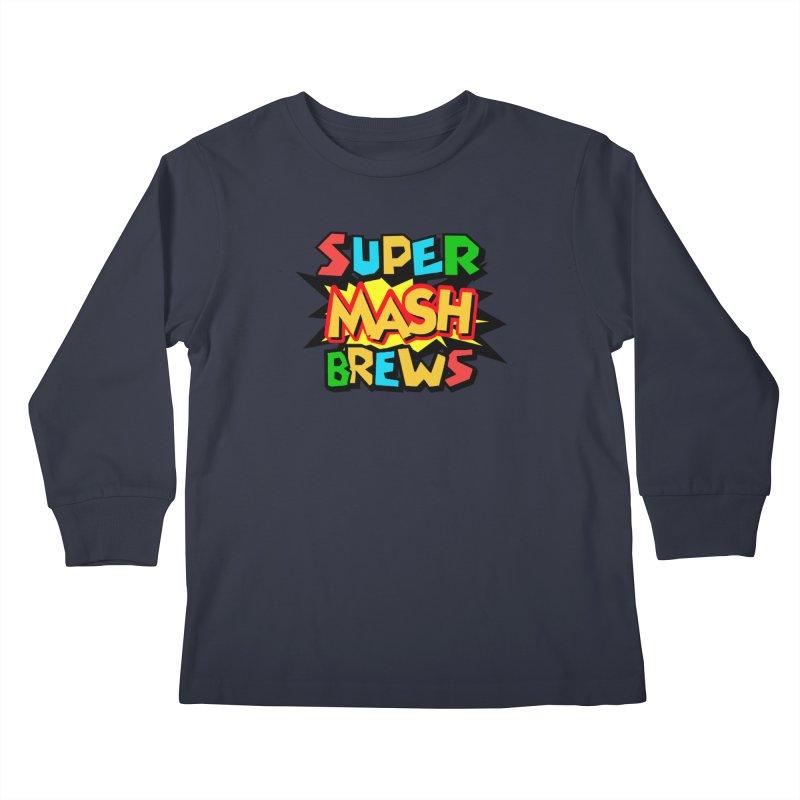 Super Mash Brews Kids Longsleeve T-Shirt by DrinkIN GeekOUT's Artist Shop