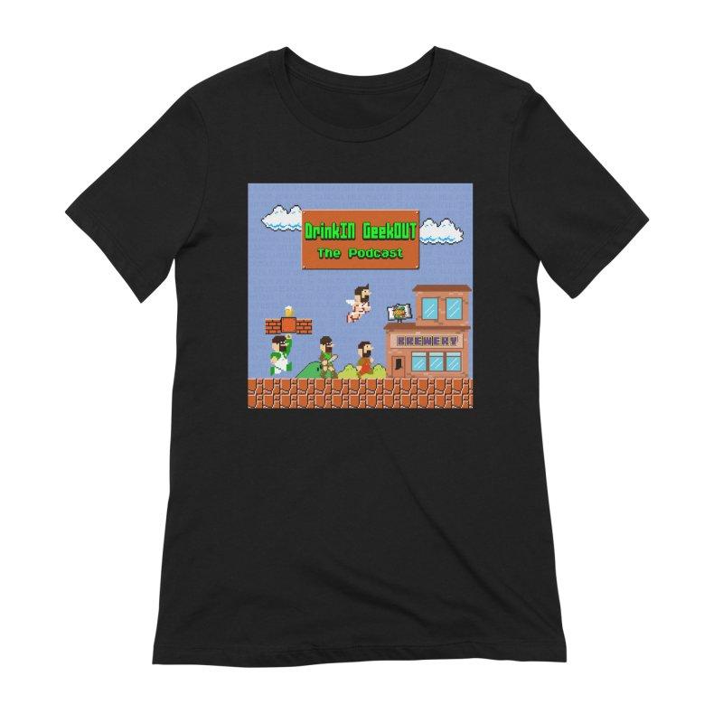 Super DiGo Bros. Women's Extra Soft T-Shirt by DrinkIN GeekOUT's Artist Shop