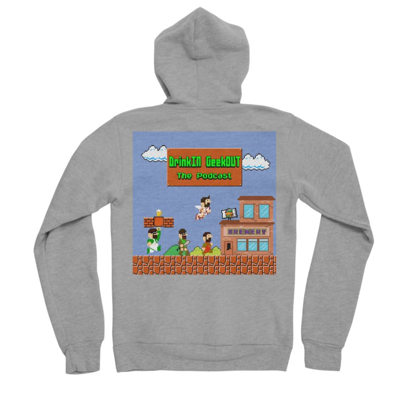 Super DiGo Bros. Women's Sponge Fleece Zip-Up Hoody by DrinkIN GeekOUT's Artist Shop