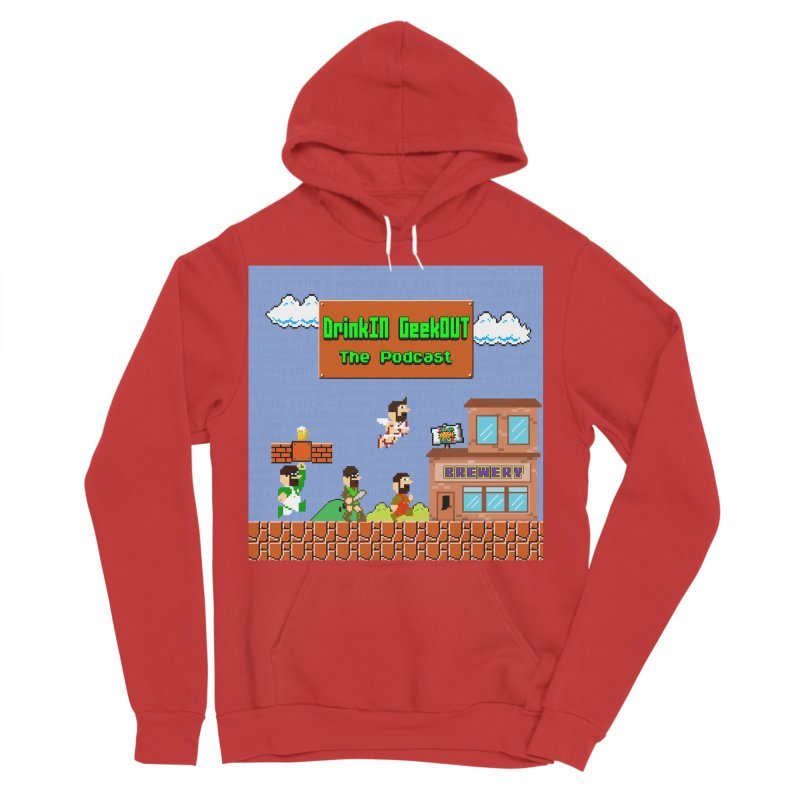 Super DiGo Bros. Women's Sponge Fleece Pullover Hoody by DrinkIN GeekOUT's Artist Shop