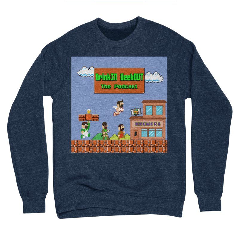 Super DiGo Bros. Men's Sponge Fleece Sweatshirt by DrinkIN GeekOUT's Artist Shop