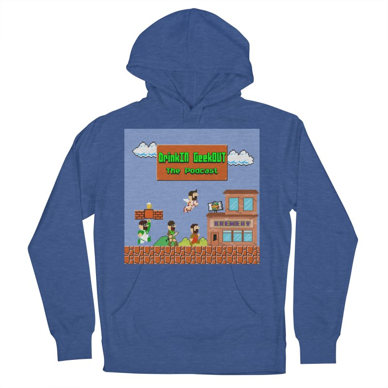 Super DiGo Bros. Women's French Terry Pullover Hoody by DrinkIN GeekOUT's Artist Shop