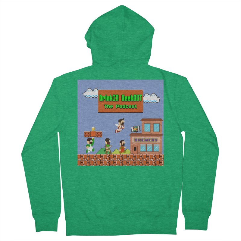 Super DiGo Bros. Women's French Terry Zip-Up Hoody by DrinkIN GeekOUT's Artist Shop