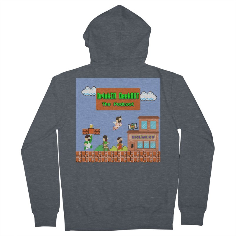 Super DiGo Bros. Men's French Terry Zip-Up Hoody by DrinkIN GeekOUT's Artist Shop