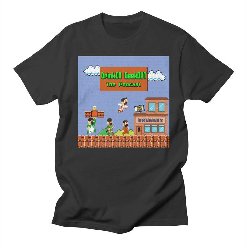 Super DiGo Bros. Men's Regular T-Shirt by DrinkIN GeekOUT's Artist Shop