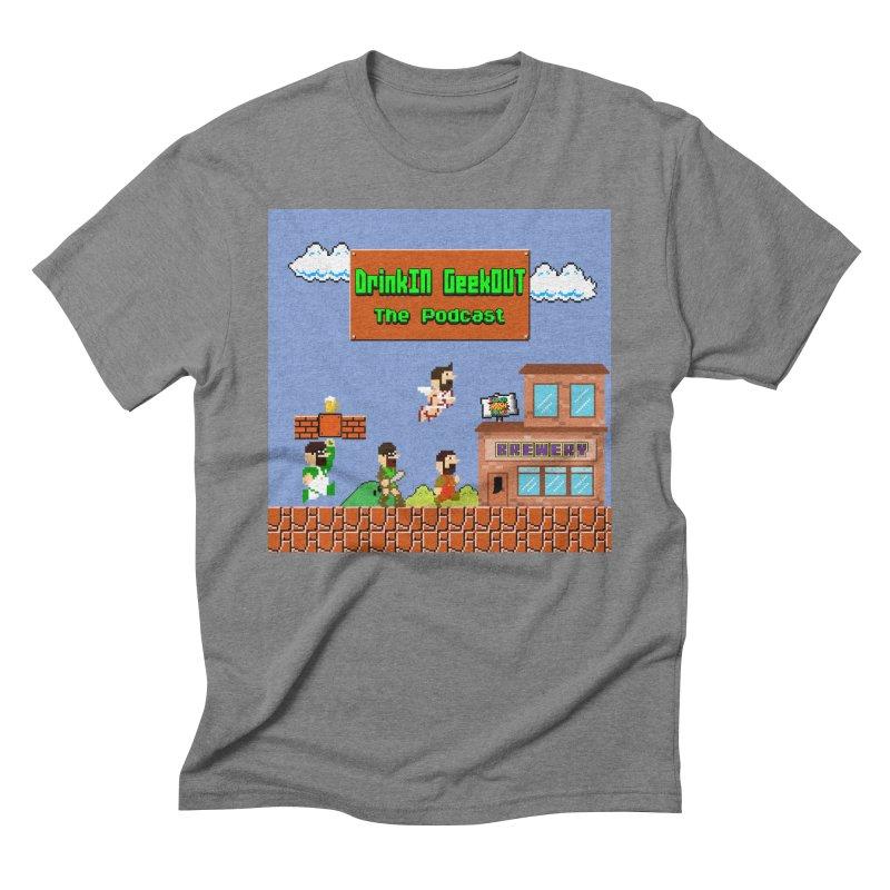 Super DiGo Bros. Men's Triblend T-Shirt by DrinkIN GeekOUT's Artist Shop