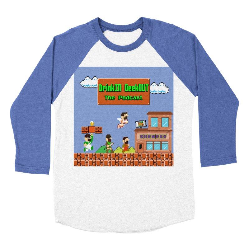 Super DiGo Bros. Women's Baseball Triblend Longsleeve T-Shirt by DrinkIN GeekOUT's Artist Shop