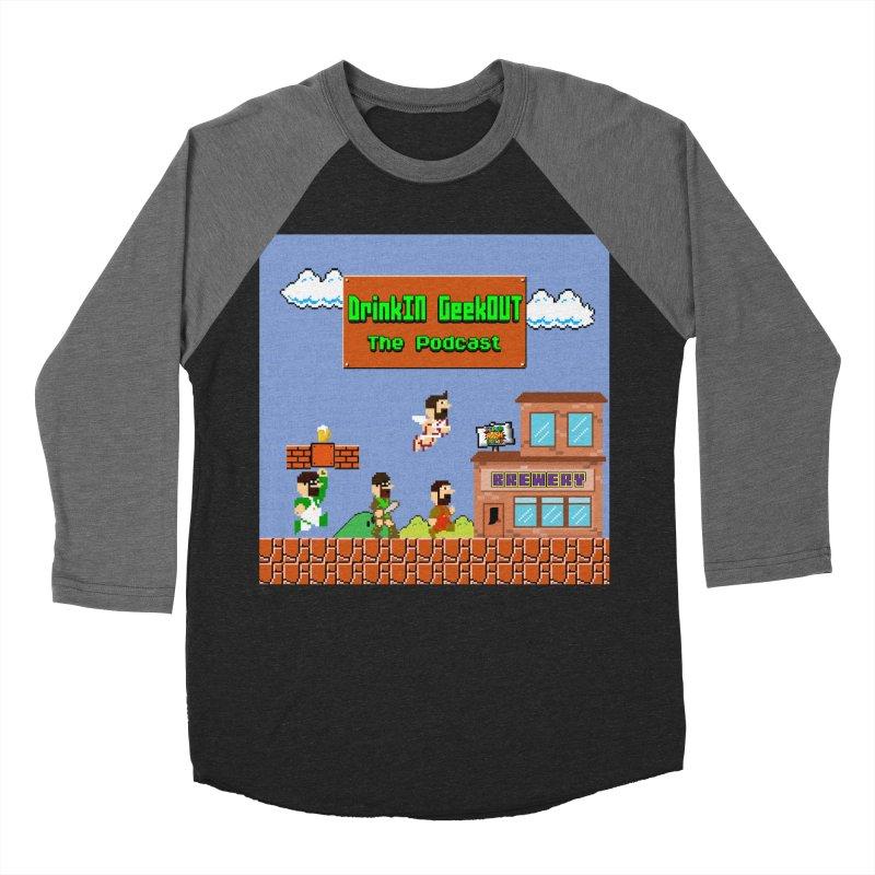 Super DiGo Bros. Men's Baseball Triblend Longsleeve T-Shirt by DrinkIN GeekOUT's Artist Shop