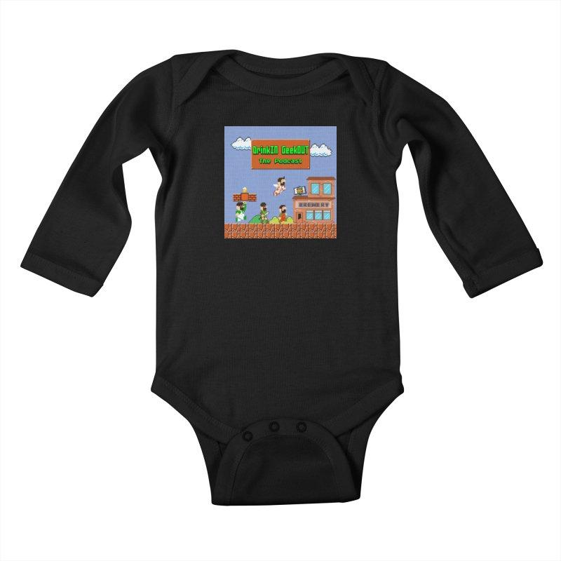 Super DiGo Bros. Kids Baby Longsleeve Bodysuit by DrinkIN GeekOUT's Artist Shop