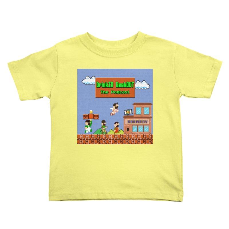 Super DiGo Bros. Kids Toddler T-Shirt by DrinkIN GeekOUT's Artist Shop