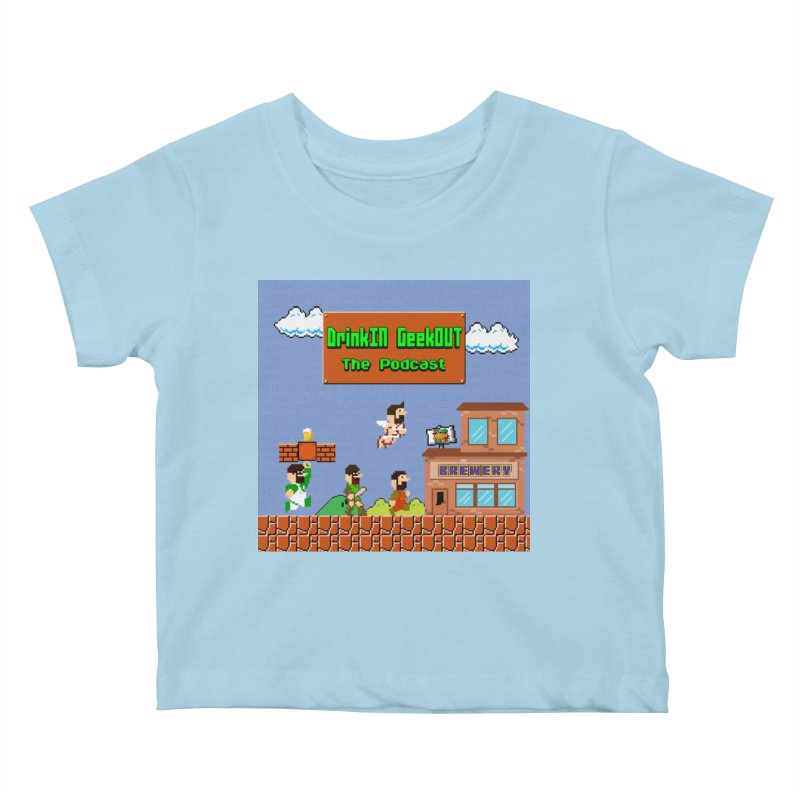 Super DiGo Bros. Kids Baby T-Shirt by DrinkIN GeekOUT's Artist Shop