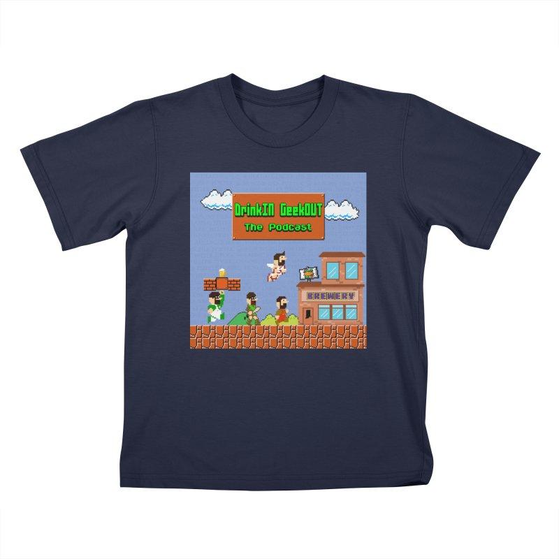 Super DiGo Bros. Kids T-Shirt by DrinkIN GeekOUT's Artist Shop