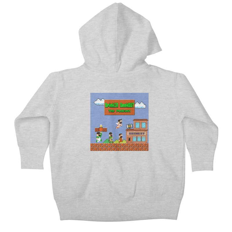 Super DiGo Bros. Kids Baby Zip-Up Hoody by DrinkIN GeekOUT's Artist Shop