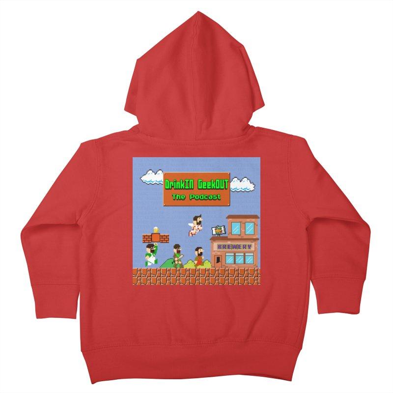 Super DiGo Bros. Kids Toddler Zip-Up Hoody by DrinkIN GeekOUT's Artist Shop