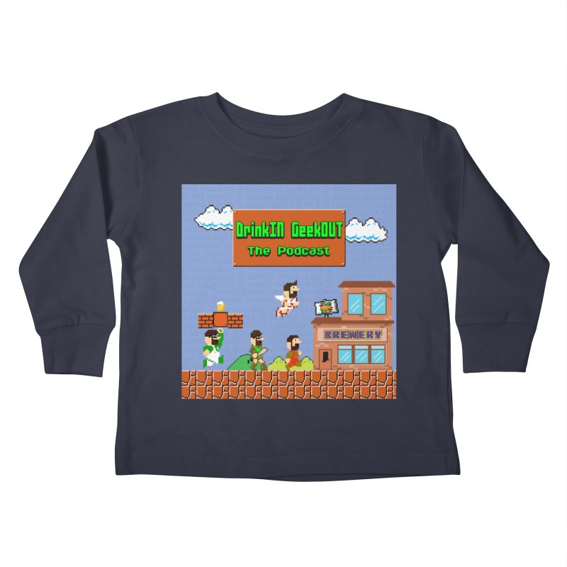 Super DiGo Bros. Kids Toddler Longsleeve T-Shirt by DrinkIN GeekOUT's Artist Shop