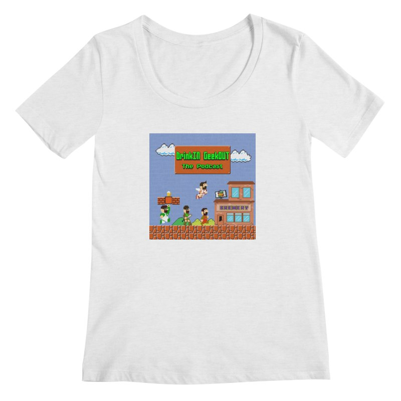 Super DiGo Bros. Women's Regular Scoop Neck by DrinkIN GeekOUT's Artist Shop