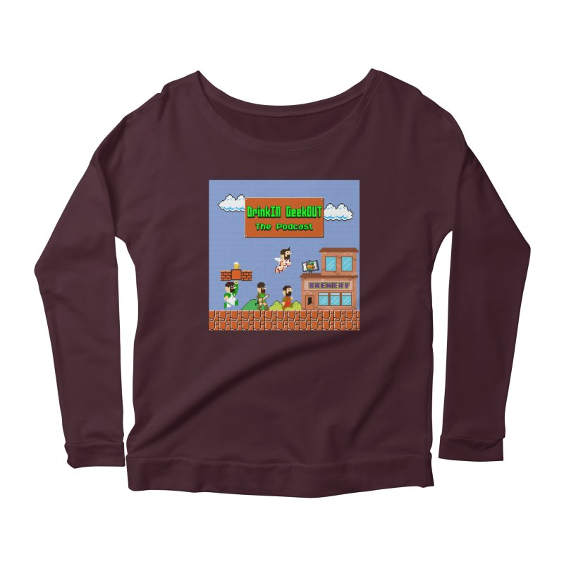 Super DiGo Bros. Women's Scoop Neck Longsleeve T-Shirt by DrinkIN GeekOUT's Artist Shop