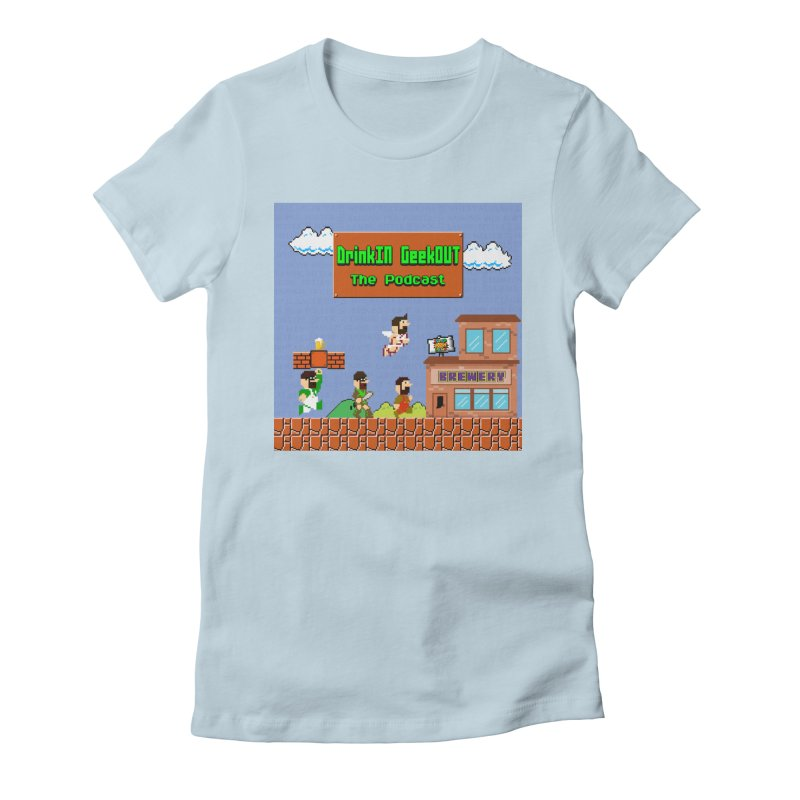 Super DiGo Bros. Women's Fitted T-Shirt by DrinkIN GeekOUT's Artist Shop