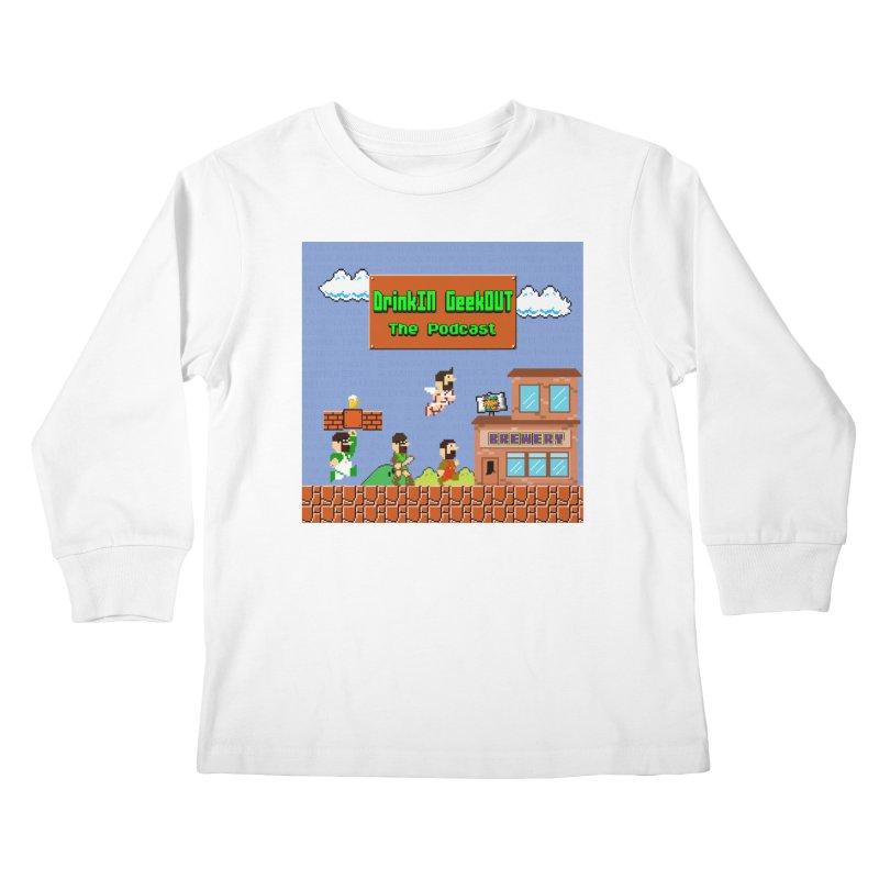 Super DiGo Bros. Kids Longsleeve T-Shirt by DrinkIN GeekOUT's Artist Shop