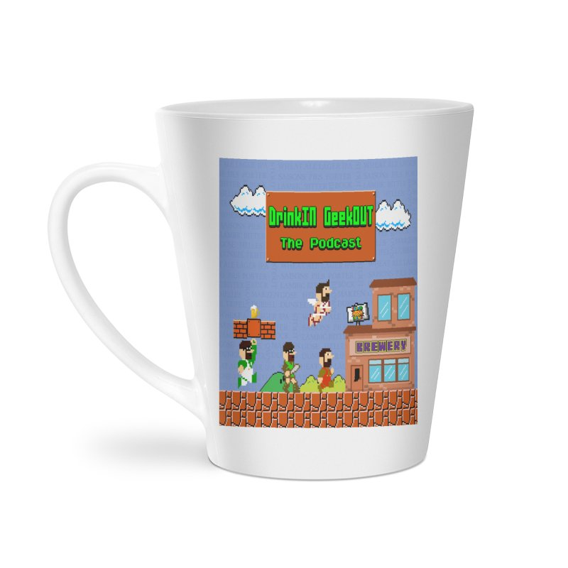 Super DiGo Bros. Accessories Latte Mug by DrinkIN GeekOUT's Artist Shop