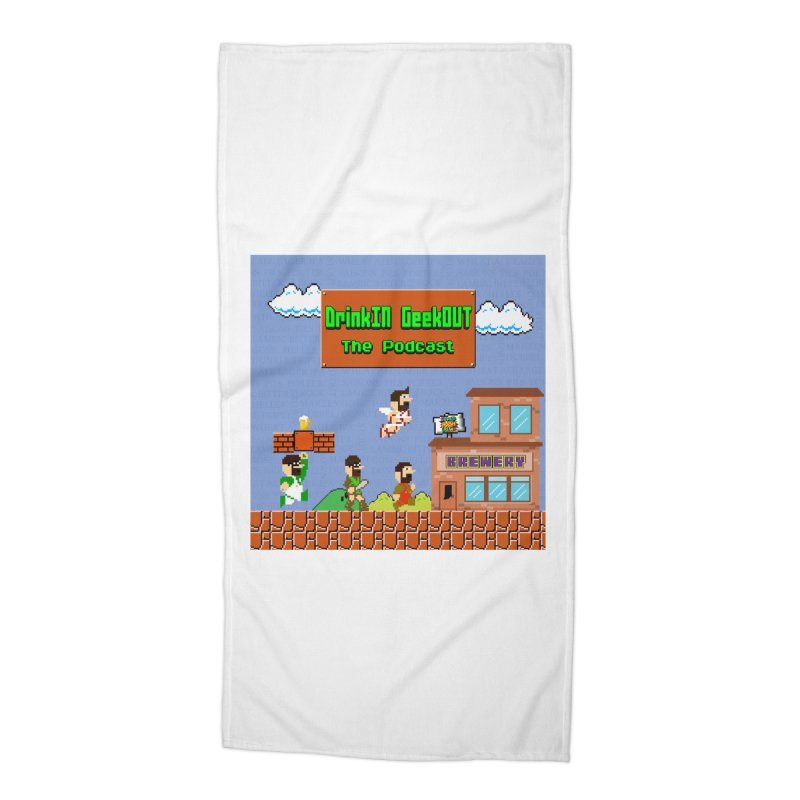 Super DiGo Bros. Accessories Beach Towel by DrinkIN GeekOUT's Artist Shop