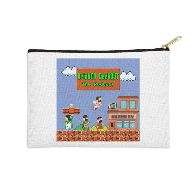 Super DiGo Bros. Accessories Zip Pouch by DrinkIN GeekOUT's Artist Shop