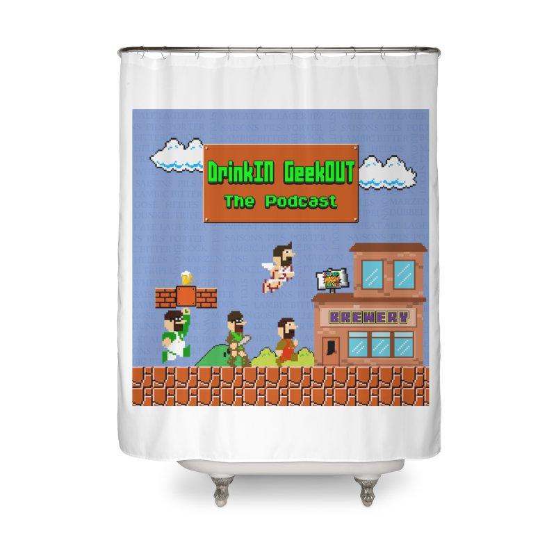 Super DiGo Bros. Home Shower Curtain by DrinkIN GeekOUT's Artist Shop