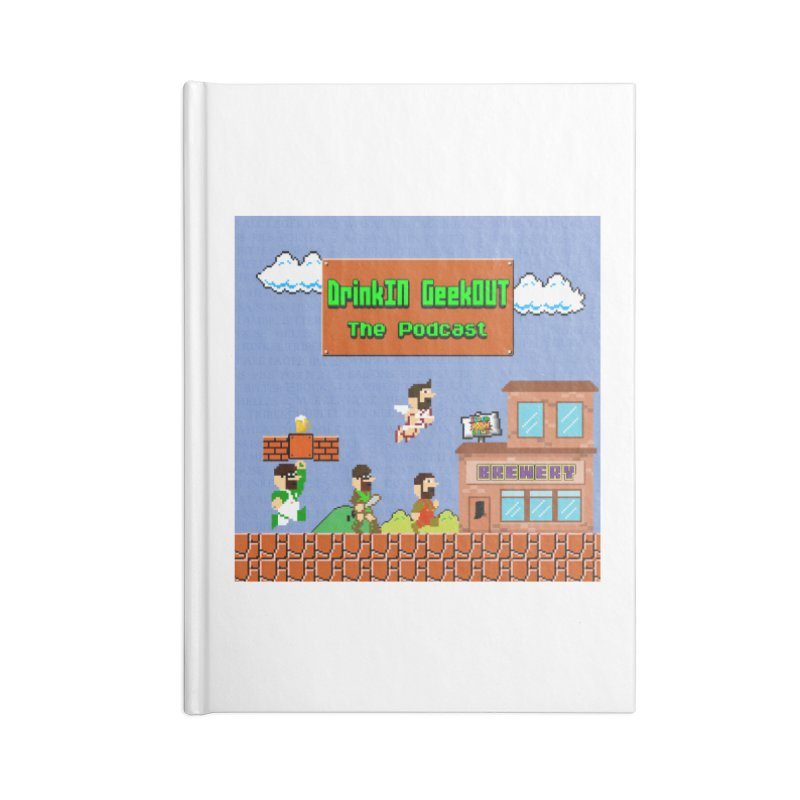 Super DiGo Bros. Accessories Blank Journal Notebook by DrinkIN GeekOUT's Artist Shop