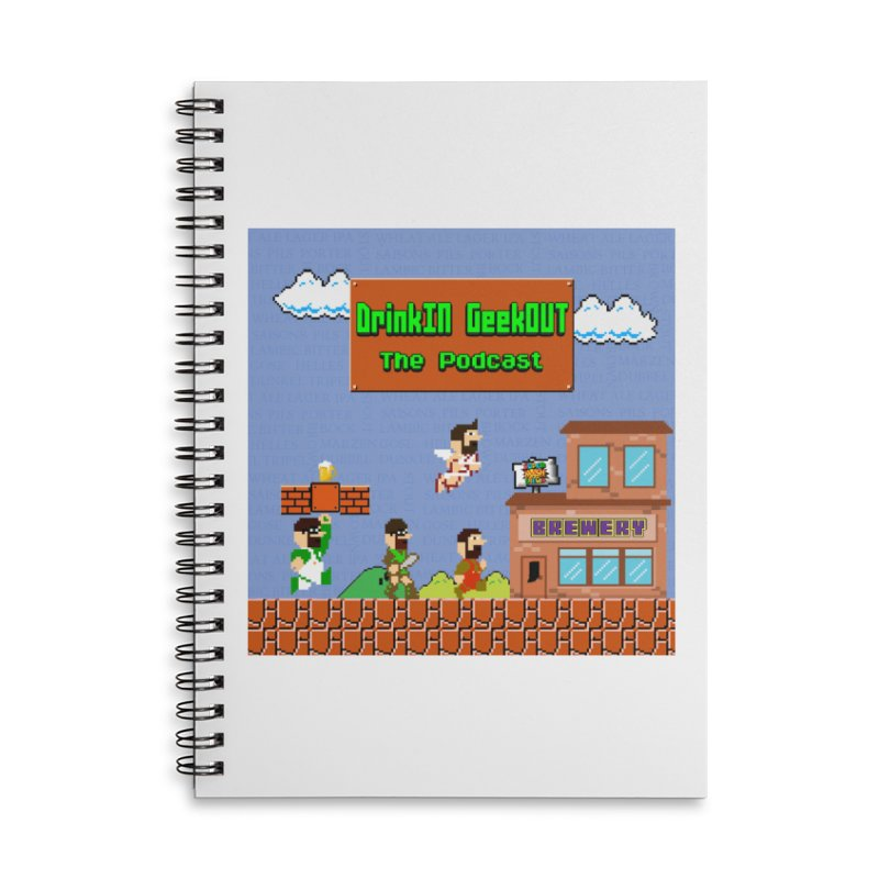 Super DiGo Bros. Accessories Lined Spiral Notebook by DrinkIN GeekOUT's Artist Shop