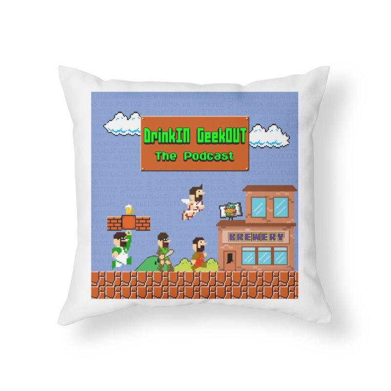 Super DiGo Bros. Home Throw Pillow by DrinkIN GeekOUT's Artist Shop