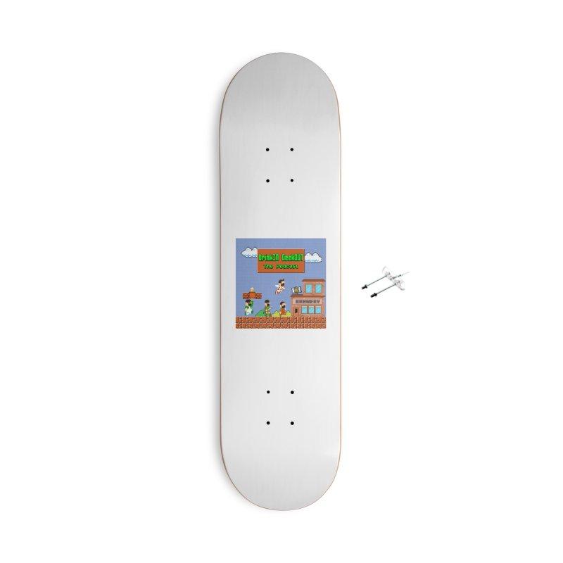 Super DiGo Bros. Accessories With Hanging Hardware Skateboard by DrinkIN GeekOUT's Artist Shop