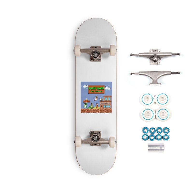 Super DiGo Bros. Accessories Complete - Basic Skateboard by DrinkIN GeekOUT's Artist Shop