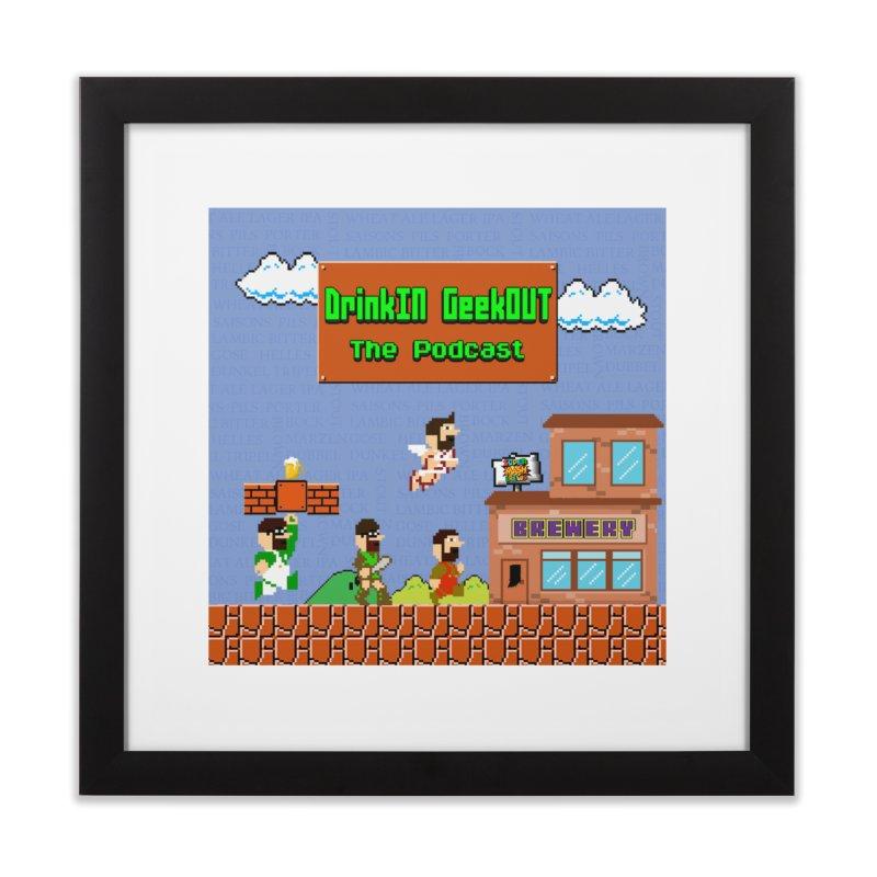 Super DiGo Bros. Home Framed Fine Art Print by DrinkIN GeekOUT's Artist Shop