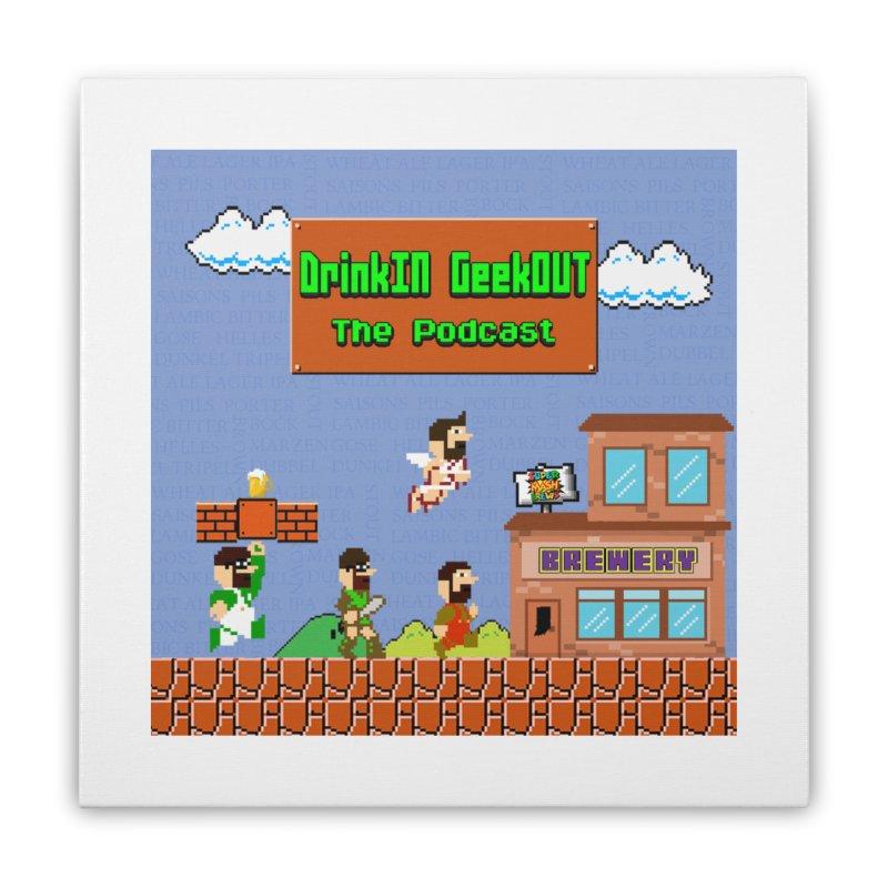 Super DiGo Bros. Home Stretched Canvas by DrinkIN GeekOUT's Artist Shop