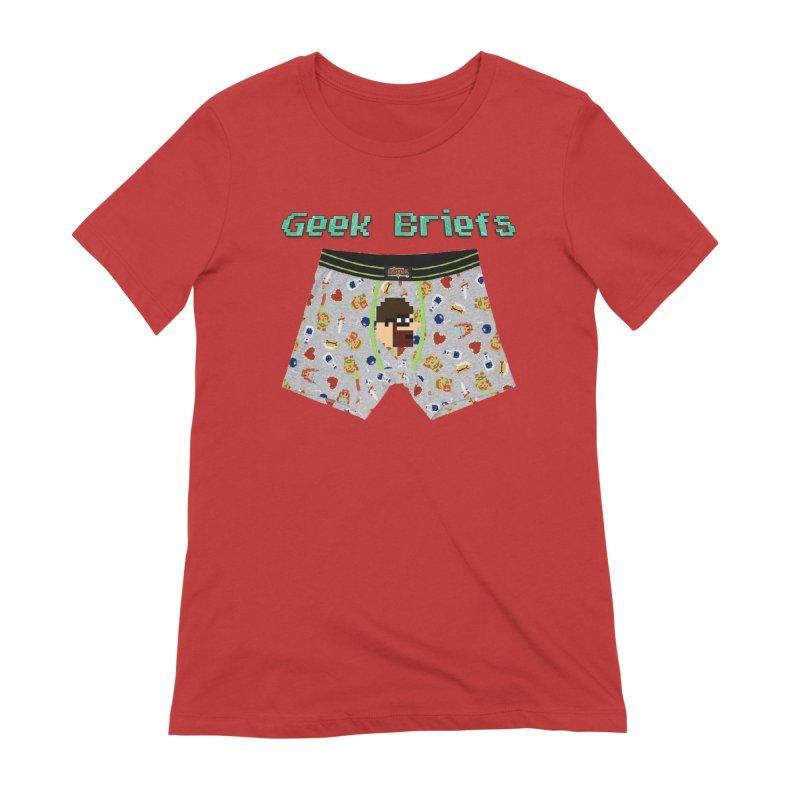Geek Briefs Women's Extra Soft T-Shirt by DrinkIN GeekOUT's Artist Shop