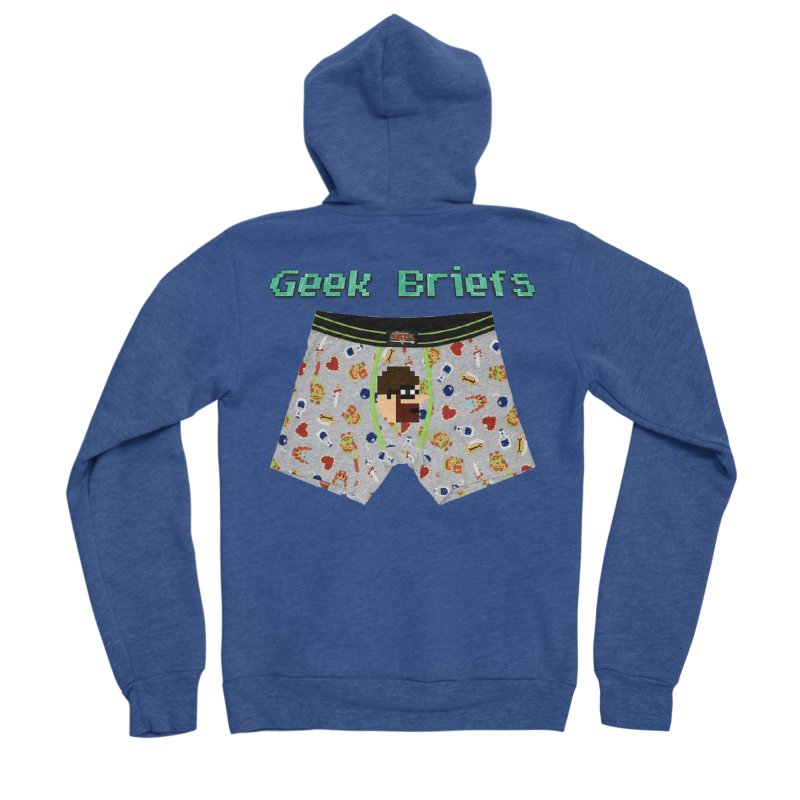 Geek Briefs Men's Sponge Fleece Zip-Up Hoody by DrinkIN GeekOUT's Artist Shop