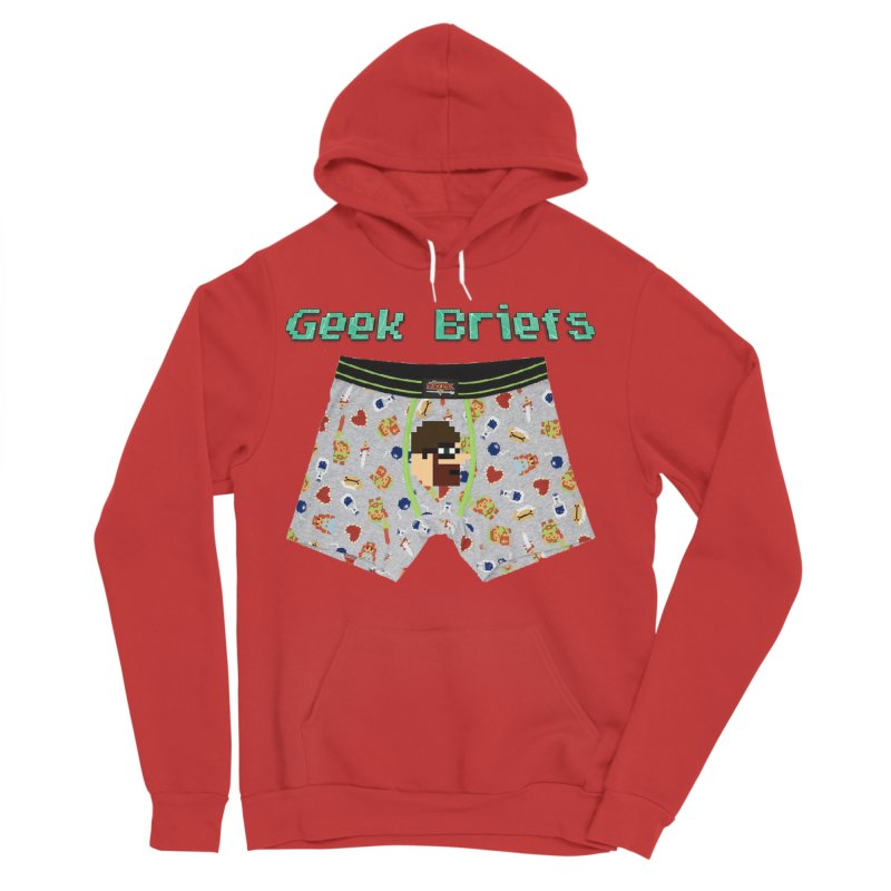 Geek Briefs Men's Sponge Fleece Pullover Hoody by DrinkIN GeekOUT's Artist Shop