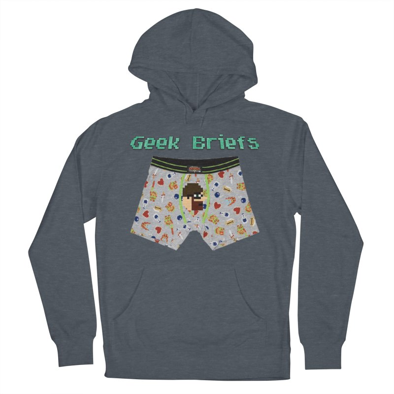 Geek Briefs Men's French Terry Pullover Hoody by DrinkIN GeekOUT's Artist Shop