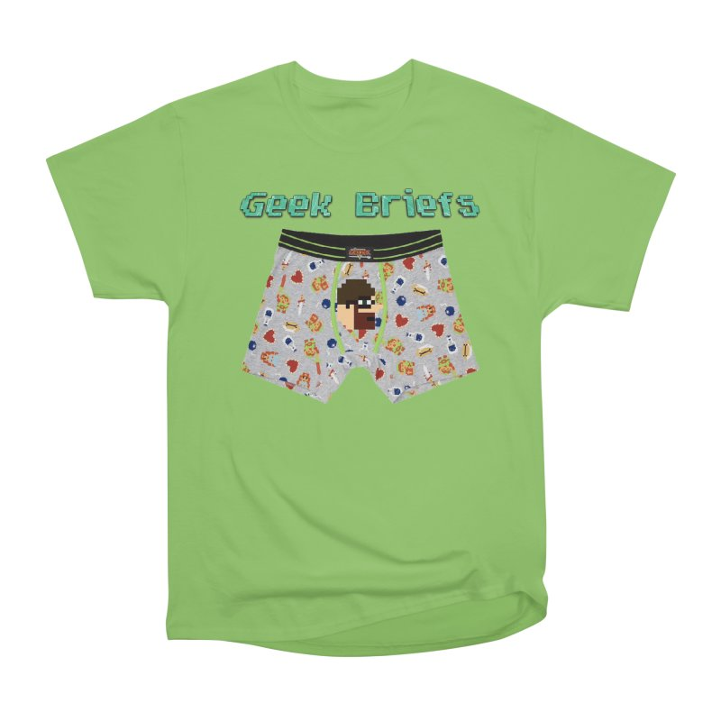 Geek Briefs Women's Heavyweight Unisex T-Shirt by DrinkIN GeekOUT's Artist Shop