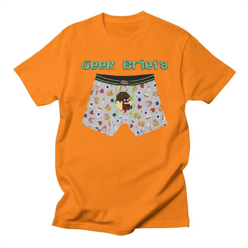 Geek Briefs Men's Regular T-Shirt by DrinkIN GeekOUT's Artist Shop