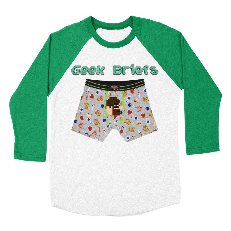Geek Briefs Men's Baseball Triblend Longsleeve T-Shirt by DrinkIN GeekOUT's Artist Shop