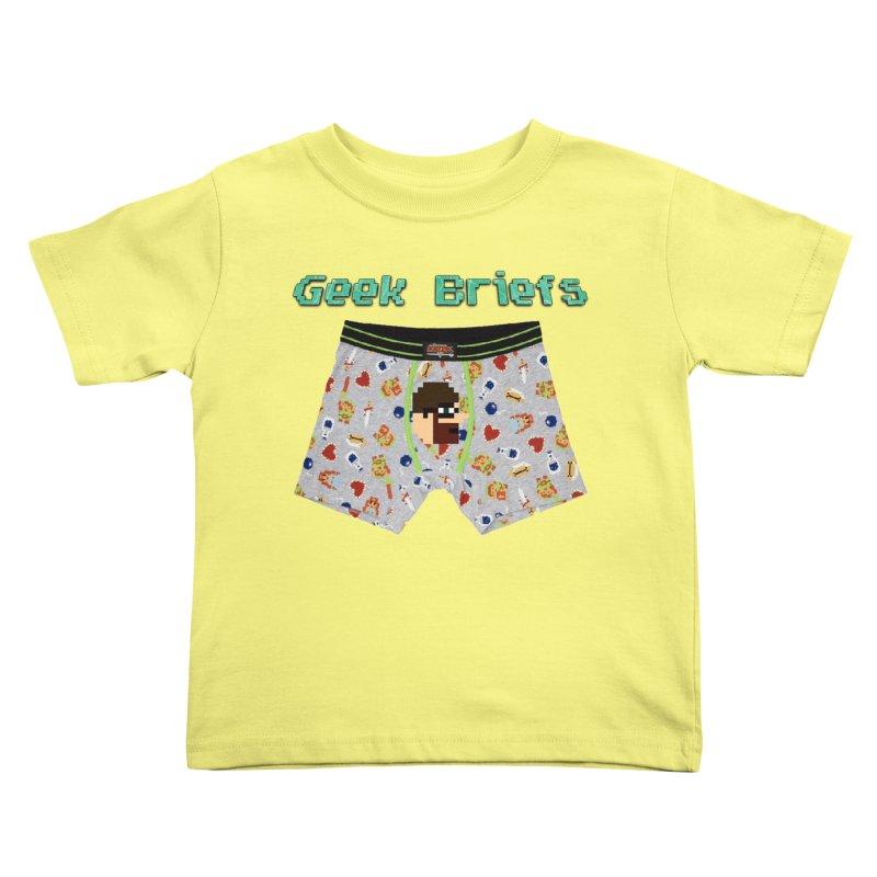Geek Briefs Kids Toddler T-Shirt by DrinkIN GeekOUT's Artist Shop