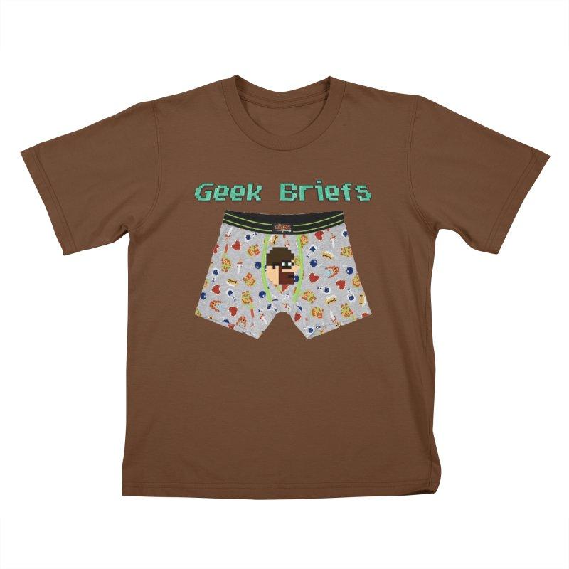 Geek Briefs Kids T-Shirt by DrinkIN GeekOUT's Artist Shop