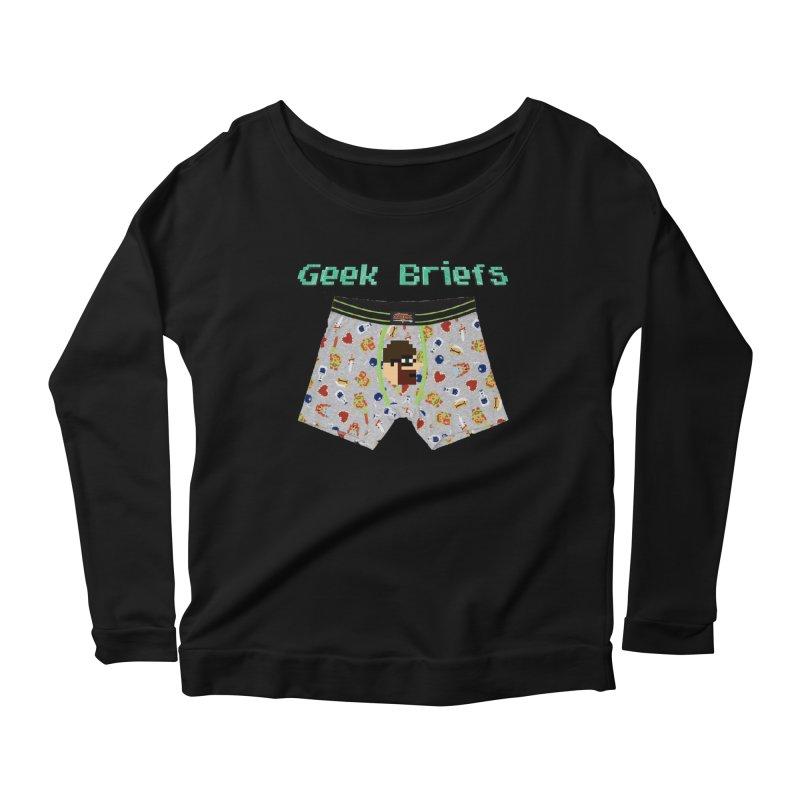 Geek Briefs Women's Scoop Neck Longsleeve T-Shirt by DrinkIN GeekOUT's Artist Shop